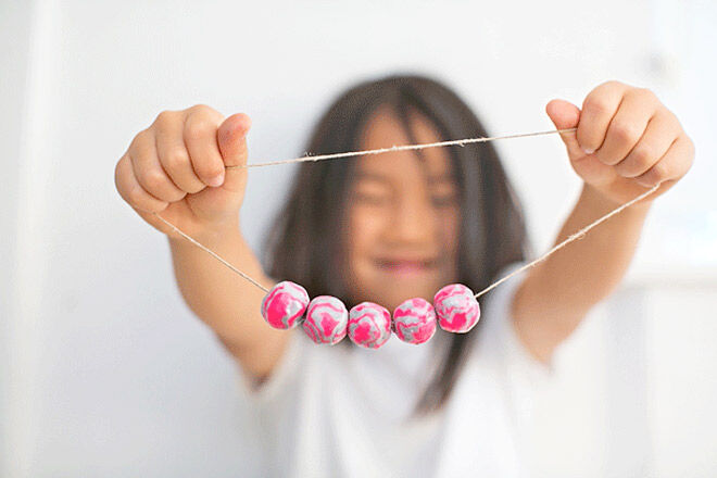 Make a clay bead necklace for a cool Mother's Day Gift