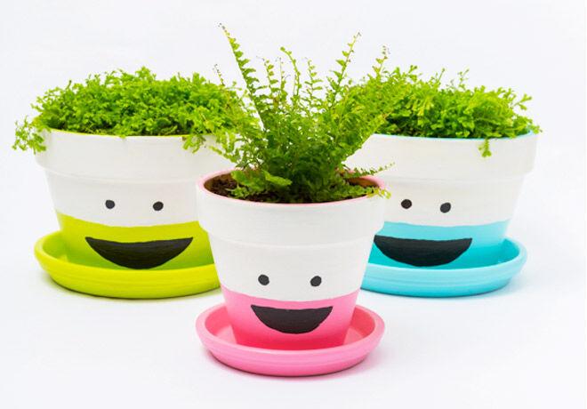 DIY plant pots to make mum smile