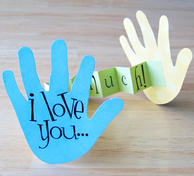 Handprint Mother's Day Card for the kids to make