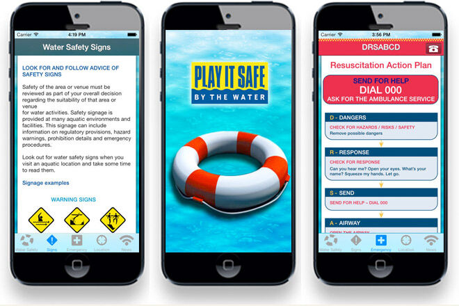 Victorian Water Safety Guide app for parents and kids