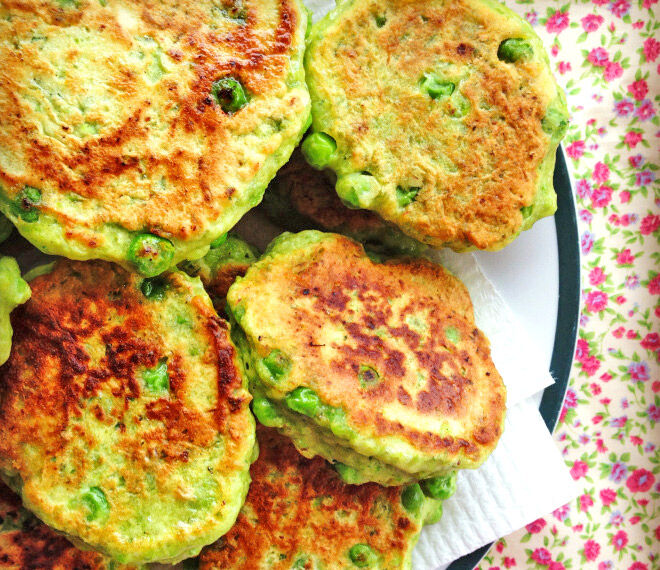 Sandwich-free lunchbox ideas - Pea fritters recipe