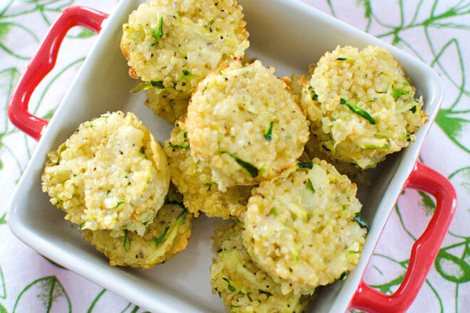 Savoury Lunchbox Ideas - Quinoa and zucchini bites