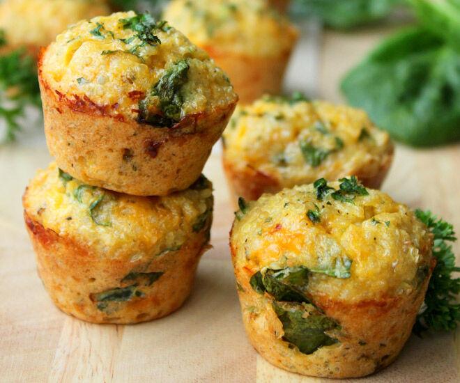 Sandwich-free lunchbox ideas - Quinoa spinach omelette bites