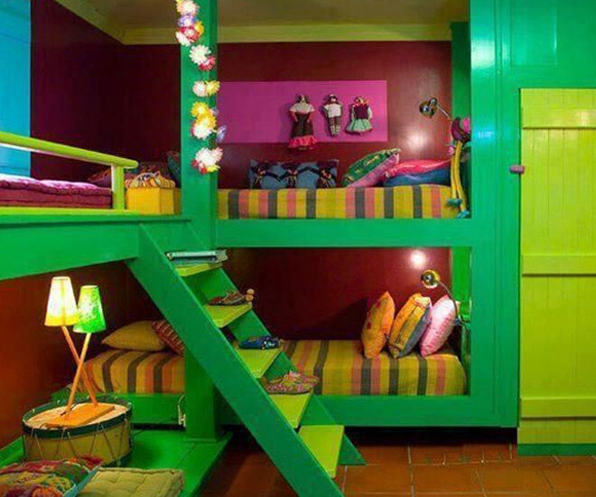 Kids Room Ideas Shared Wall Colors