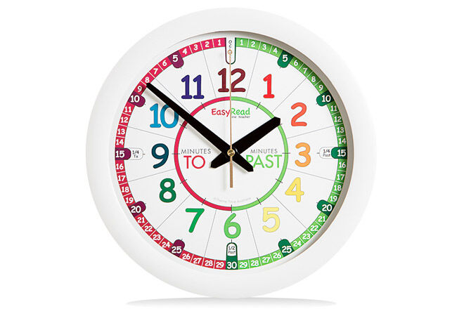 Tell the time in an instant with the easy read time teacher clock