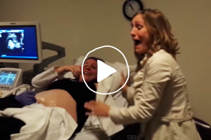 VIDEO: Her sister is having twins and her reaction is priceless!