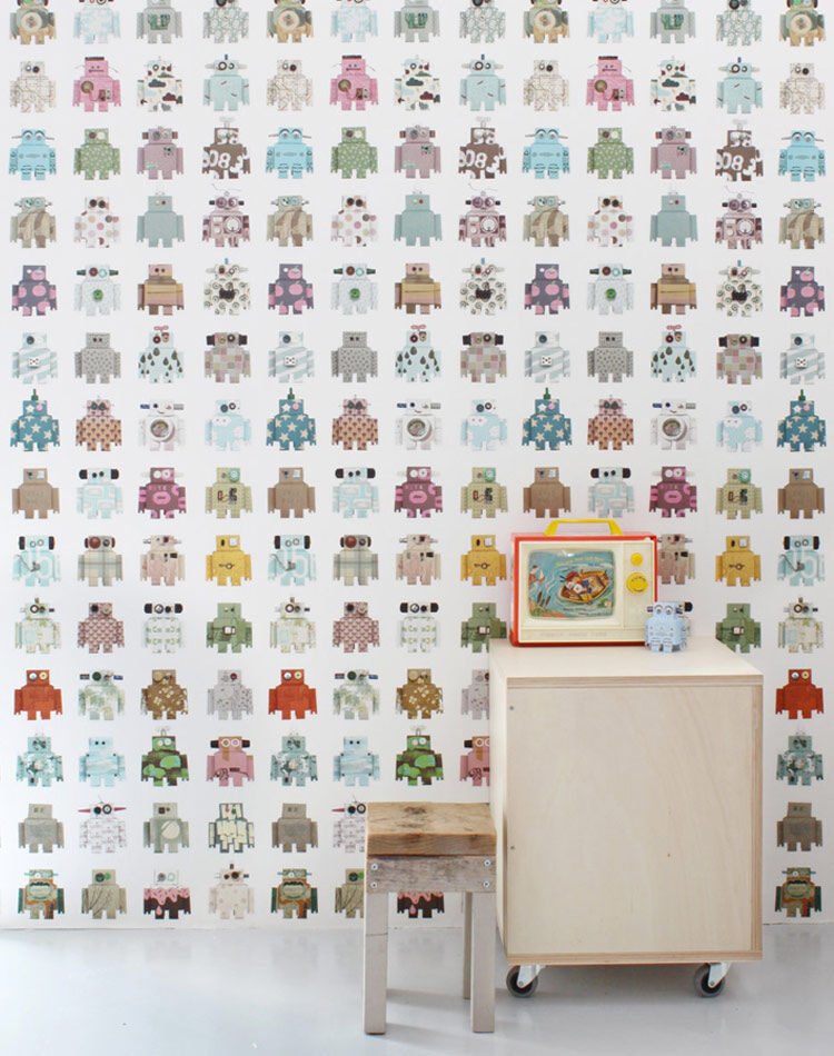 Robot Wallpaper For Kids Room