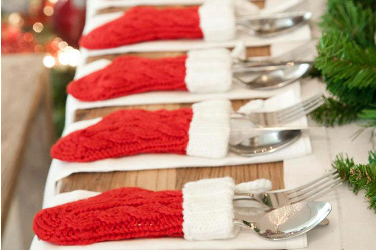 12 DIY Christmas table hacks