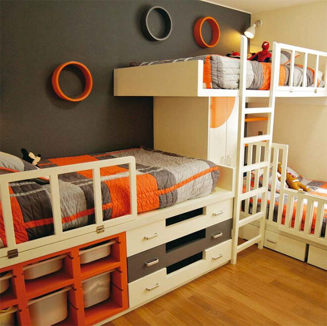 The Pull Out Drawers Underneath The Beds Are Super Handy And The Three Kids  Have Their Own, ...