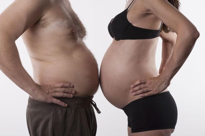 pregnant belly dad tummy