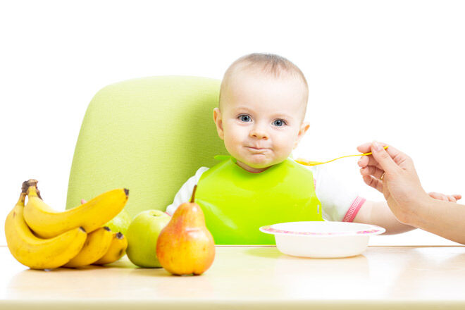 Baby purees for transitioning to solids