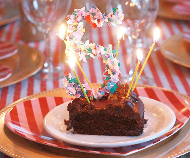DIY Confetti Cake Topper via A Joyful Riot