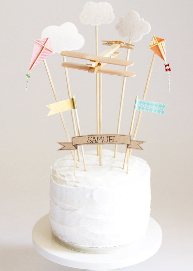 Sky Party Cake Toppers