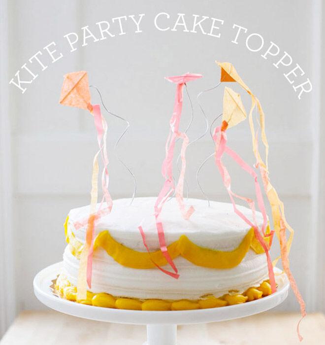 DIY Kite Cake Topper via Oh Happy Day