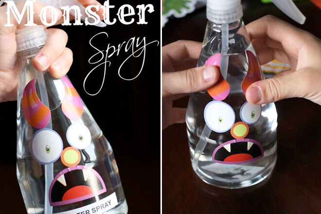 Calm your toddler at night with this Monster Spray Lavender Oil via Happy Hooligans