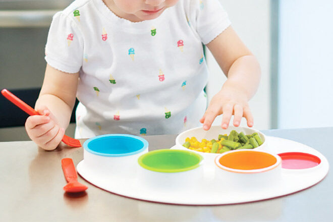 Collection Here Baby Cartoon Animals Feeders Children Food Plate Dishes Tableware Dining Table Food Plate Baby Feeding Supplies Dishes