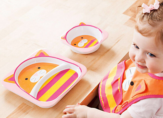 Cute Zoo themed tableware for kids from Skip Hop