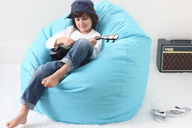 Hip Kids Bubble Blue Bean Bag