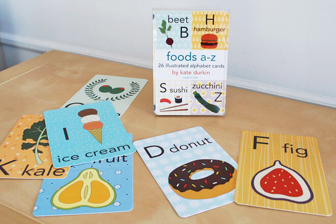 Food Alphabet Flash Card Set