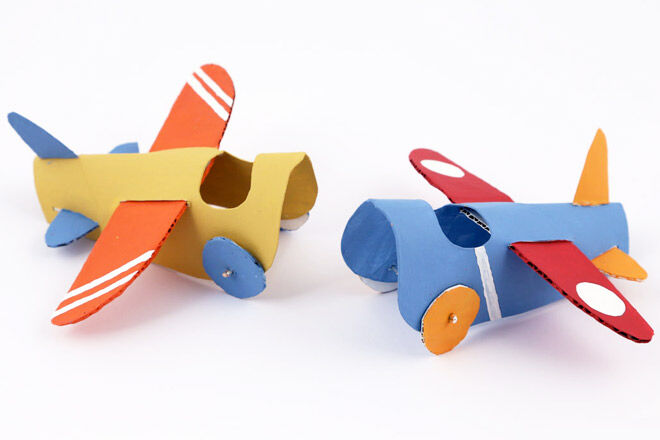Toilet Roll Plane Crafts via Molly Moo