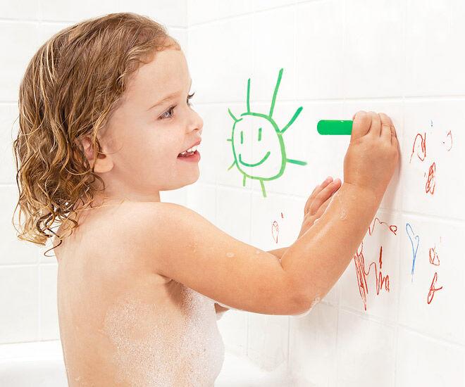 Write on, wipe off! Turn bath time into fun time with Bath Crayons.