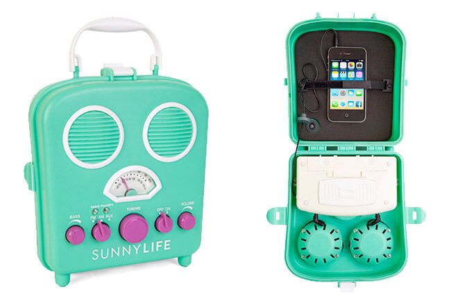 Colourful portable speakers for bath time from Sunny Life