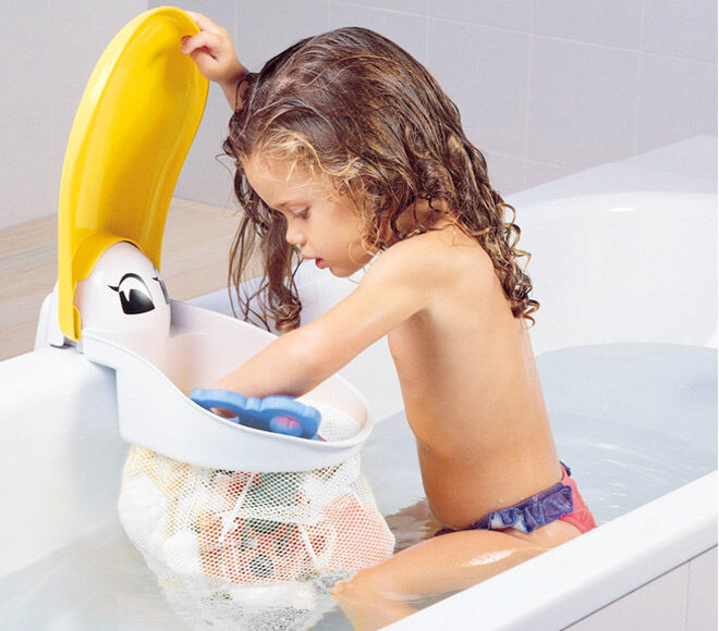 Keep kids toys neat and tidy in the bathroom with the Pelican Bath Storage Pouch