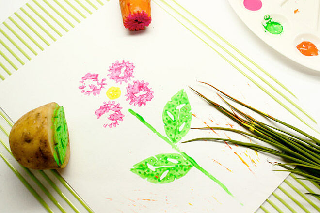 Painting with vegetables