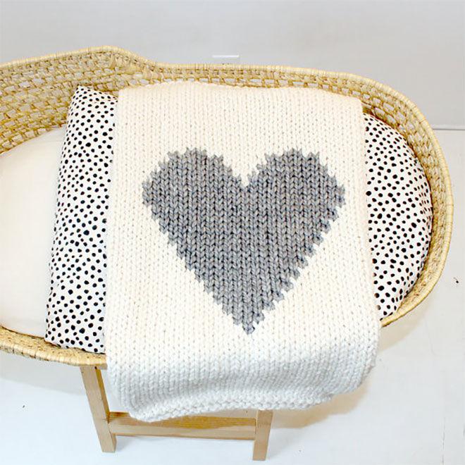 Knitting Patterns For Baby Blankets Australia : Knitted baby blankets that speak