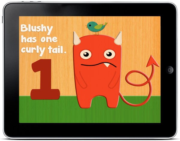 Simple interactive app to help children who are learning to count
