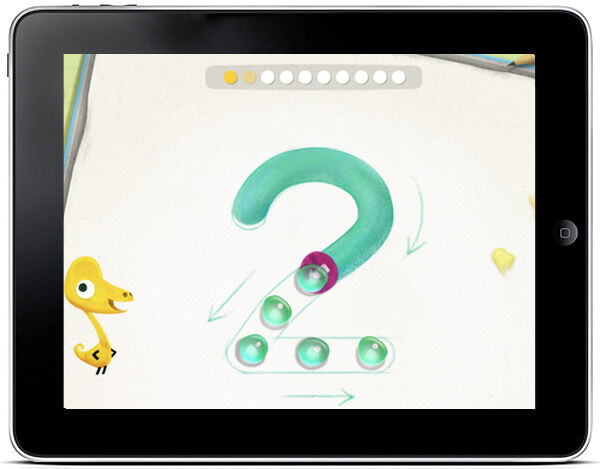Kids can learn basic number skills with this colourful app