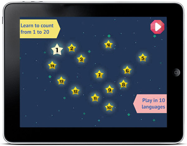 A fun app for helping toddlers learn to count
