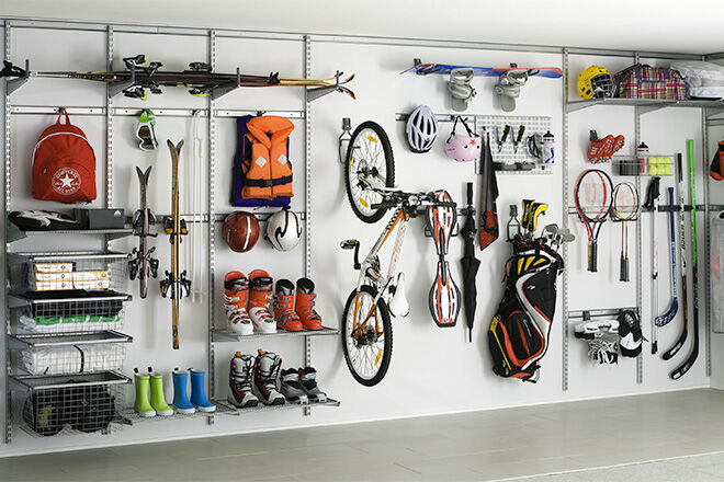 go for gold 13 winning ways to store sports gear. Black Bedroom Furniture Sets. Home Design Ideas