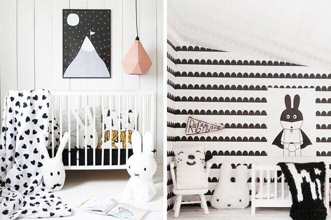 Monochrome Nursery Inspiration 3/4   Mum's Grapevine