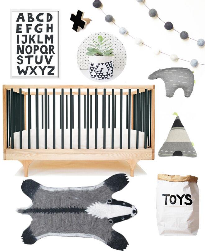 Monochrome Nursery Design: Mum's Grapevine
