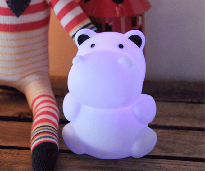 Cute Hippo Night Light from ZooGlo