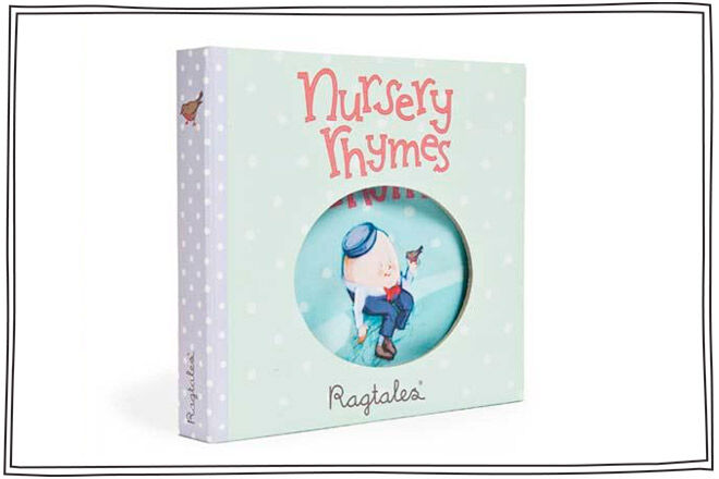 A rag book full of all your babies favourite nursery rhymes