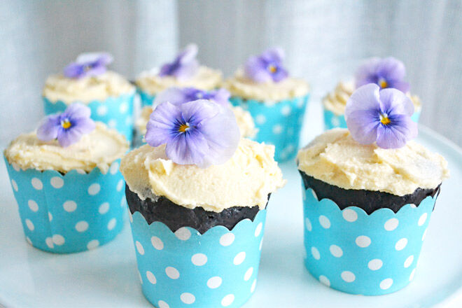 Sugar-free chocolate cupcake recipe. So delicious and the scrummy icing is too!