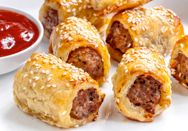 Scrummy recipe for Pork & Fennel Sausage Rolls via I Quit Sugar - Great for parties and family gatherings.
