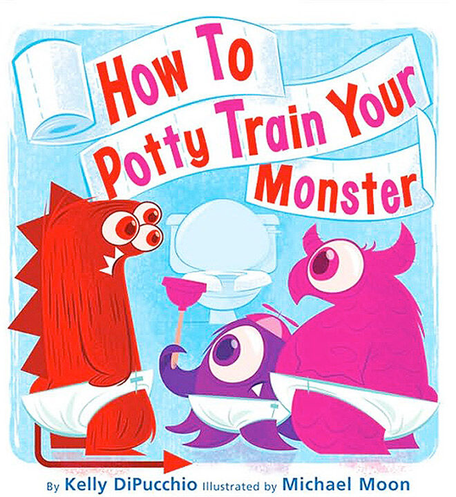 Childrens toilet training book with fun tips for toilet training monsters