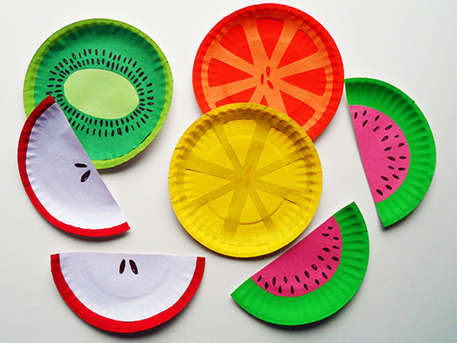 How to make fruit out of paper plates