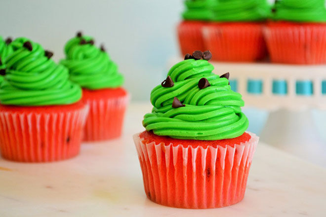 watermelon - cupcakes