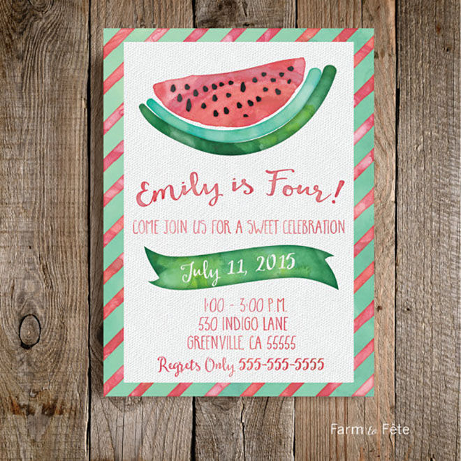 watermelon - invite