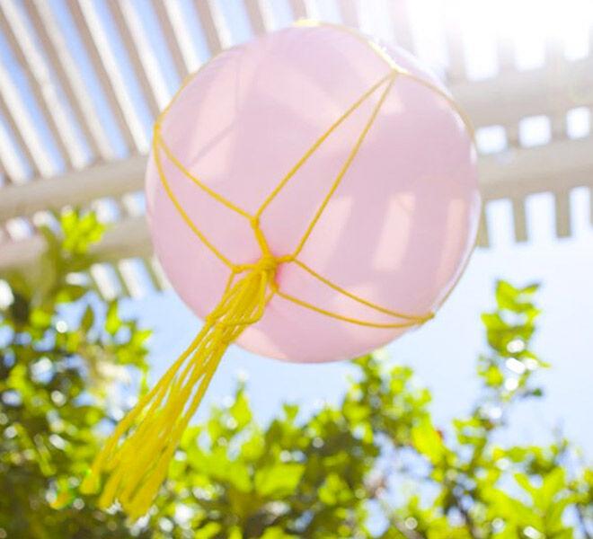 Make a Macrame Balloon! 13 cool DIY Balloon Projects | Mum's Grapevine DIY