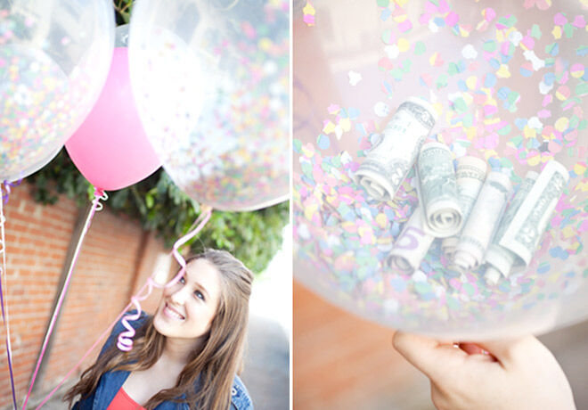 13 DIY Balloon Projects: Balloons filled with money and confetti make a great fun gift | Mum's Grapevine