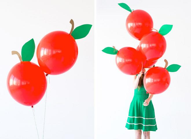 13 DIY Balloon Projects: Sweet apple balloons | Mum's Grapevine