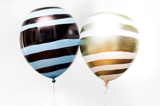 DIY Balloon Projects to Make Your Party Pop: Painted stripes look awesome for a safari party | Mum's Grapevine