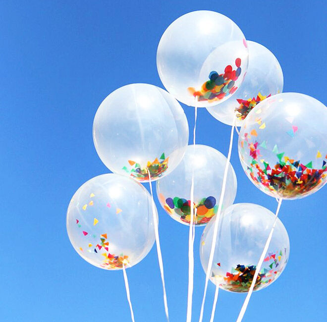 DIY Balloon Projects: Simply fill balloons with sprinkles and they look great! | Mum's Grapevine