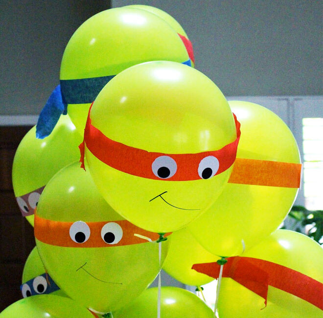 13 DIY balloons projects: TMNT Time!!! | Mum's Grapevine