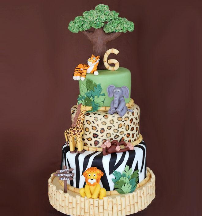 Birthday Cakes For Boys Jungle Cake Via Sweet Dreams